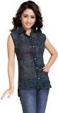 Yaari Casual Sleeveless Self Design Wome...