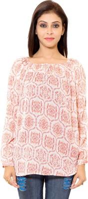 Eleganceranuka Party Full Sleeve Printed Women's Orange Top