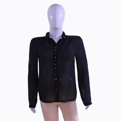 Private Affairs Casual Full Sleeve Solid Women,s Black Top