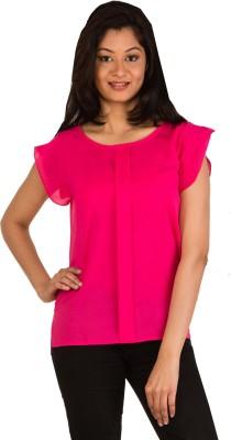 Modo Vivendi Casual Sleeveless Solid Women's Pink Top