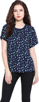 Paprika Casual Short Sleeve Printed Women,s Blue, Green Top