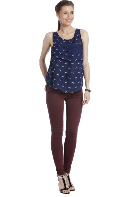 Only Casual Sleeveless Printed Women's Blue Top