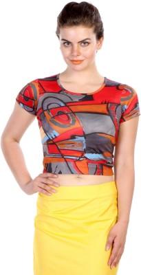 James Scot Lounge Wear Short Sleeve Geometric Print Women's Multicolor Top