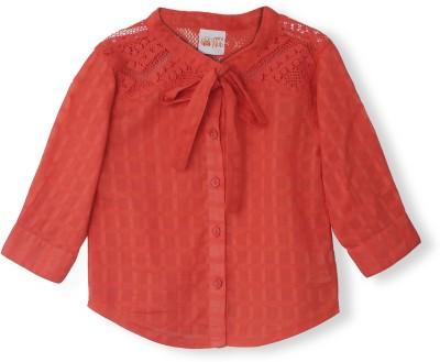 FS Mini Klub Casual Full Sleeve Woven Girl's Pink Top