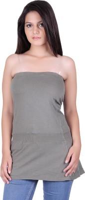Lluminati Party Sleeveless Solid Women's Dark Green Top