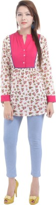 Fantasy Ika Casual 3/4 Sleeve Printed Women's Pink Top