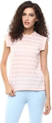 BLUE ISLE Casual Cap sleeve Self Design Women's Pink Top