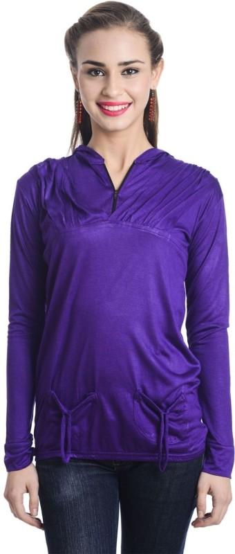 TeeMoods Casual Full Sleeve Solid Women's Purple Top