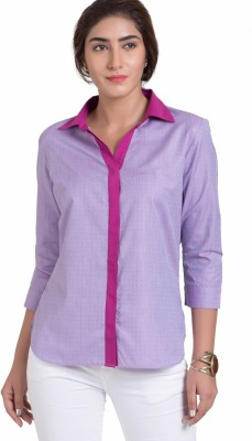 The Office Walk Formal 3/4 Sleeve Solid Women's Pink Top
