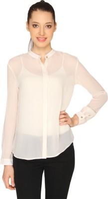Ashtag Formal Full Sleeve Solid Women's White Top
