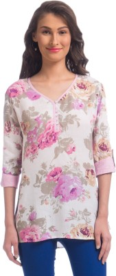 Uptownie Lite Party 3/4 Sleeve Floral Print Women's Pink Top