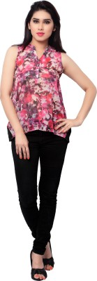 SFDS Party Sleeveless Printed Women's Multicolor Top