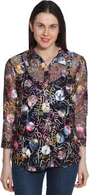 Sienna Casual 3/4 Sleeve Printed Women's Multicolor Top