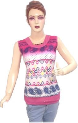 Shining Girl Casual Short Sleeve Printed Women's Pink Top