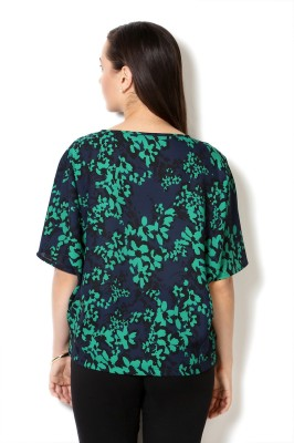 Van Heusen Casual Short Sleeve Printed Women's Green Top