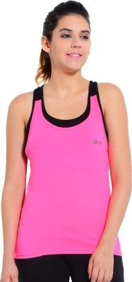 Ativo Sports Sleeveless Solid Women's Pink, Black Top