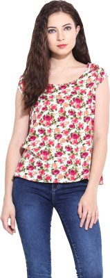 Paprika Casual Cap sleeve Printed Women,s Multicolor Top
