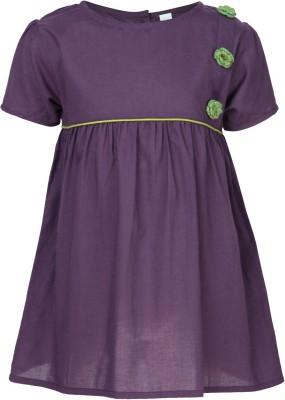 Nino Bambino Casual Puff Sleeve Woven Girl's Purple Top