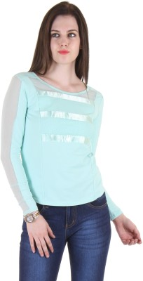 SS Casual Full Sleeve Solid Women's Light Green Top