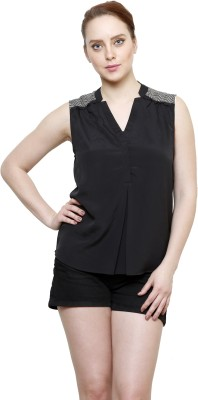 I Am For You Casual Sleeveless Solid Women's Black Top