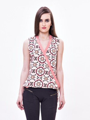 Envy Me Casual Sleeveless Geometric Print Women,s Multicolor Top