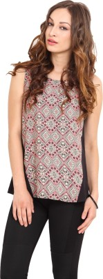 Instacrush Casual Sleeveless Geometric Print Women,s Multicolor Top