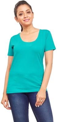 ELINA Casual, Party, Sports, Lounge Wear, Beach Wear Short Sleeve Solid Women's Blue Top