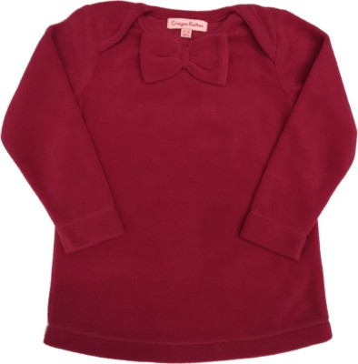 Crayon Flakes Casual Full Sleeve Solid Baby Girl,s Pink Top