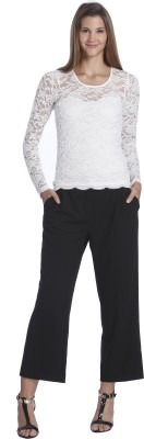 Only Casual Full Sleeve Woven Women's Black Top
