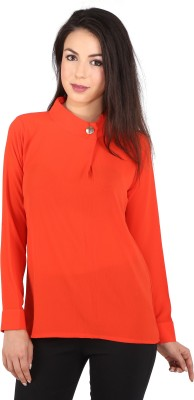 Tenn Casual, Party Full Sleeve Solid Women's Red Top