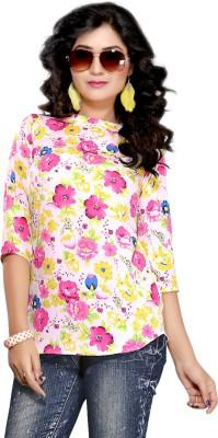 Kurtiz Casual 3/4 Sleeve Floral Print Women's Pink Top