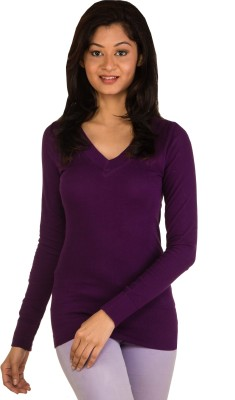 Modo Vivendi Casual Full Sleeve Solid Women's Purple Top