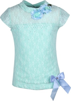 Cutecumber Party Sleeveless Embellished Girl's Green Top