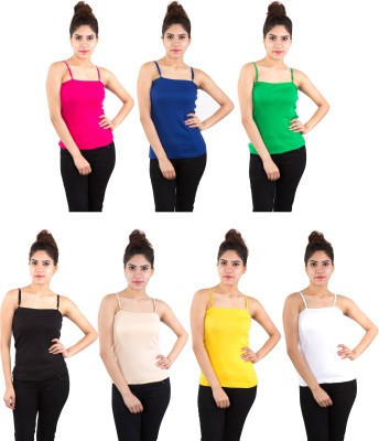 Piftif Casual Sleeveless Solid Women's Multicolor Top at flipkart