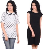 Zrestha Casual Short Sleeve Solid Women'...
