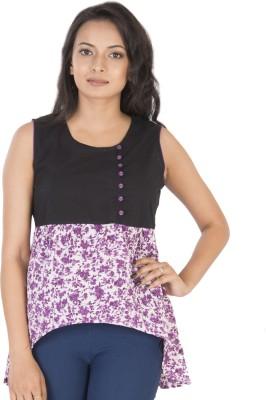 Sunshine Casual Sleeveless Solid Women's Purple Top