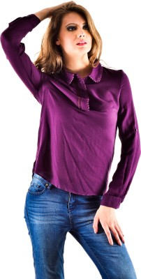 Oshea Casual Full Sleeve Solid Women's Purple Top
