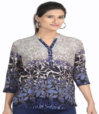 Tirumala Casual 3/4 Sleeve Printed Women's Multicolor Top