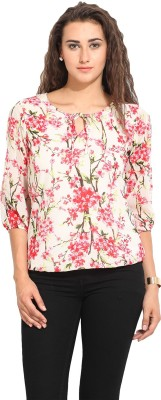 Lucero Casual 3/4 Sleeve Floral Print Women's Multicolor Top
