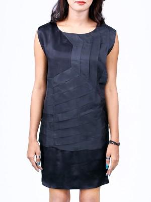 Priveeparis Casual Sleeveless Solid Women's Black Top