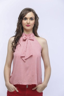 SOULWEAR Wedding, Casual, Formal, Festive Sleeveless Solid Girl's Pink Top