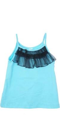 Kidzblush Casual Sleeveless Solid Girl's Blue, Black Top