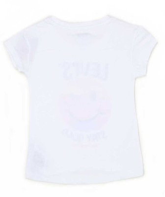Levi's Casual Short Sleeve Graphic Print Girl's White Top