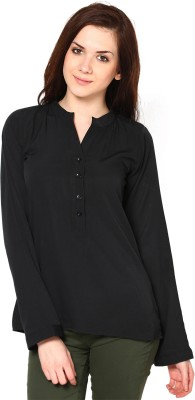 Westhreads Casual Full Sleeve Solid Women's Black Top