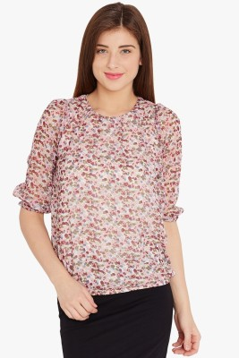 Anasazi Casual 3/4 Sleeve Printed Women's Multicolor Top