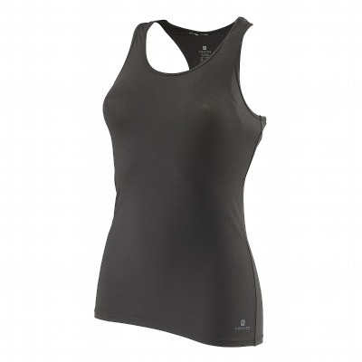 Domyos Sports Sleeveless Solid Women's Black Top