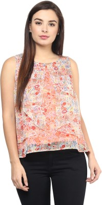 Rockland Life Casual Sleeveless Floral Print Women's Pink Top