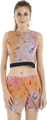 Fuziv Casual Sleeveless Printed Women's Multicolor Top