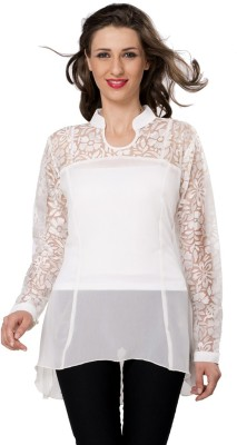 Bebo Casual Full Sleeve Solid Women's White Top
