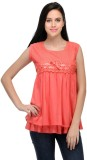 Royal Casual Sleeveless Solid Women's Or...